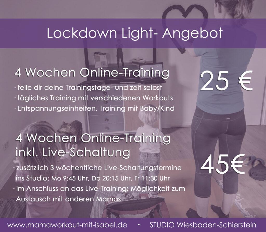 Corona Lockdown-Light Angebot